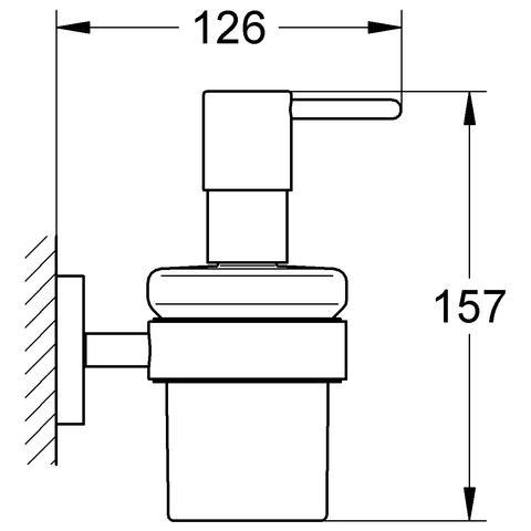 grohe essentials seifenspender set 40373000 bestehend aus halter und glas ebay. Black Bedroom Furniture Sets. Home Design Ideas