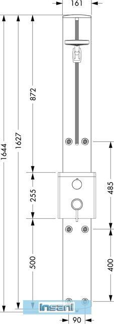 hansgrohe raindance s duschpaneel aufputz chrom 27005. Black Bedroom Furniture Sets. Home Design Ideas