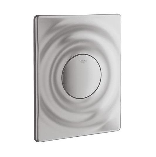 grohe surf wc bet tigungsplatte abdeckplatte matt chrom 38574p00 ebay. Black Bedroom Furniture Sets. Home Design Ideas