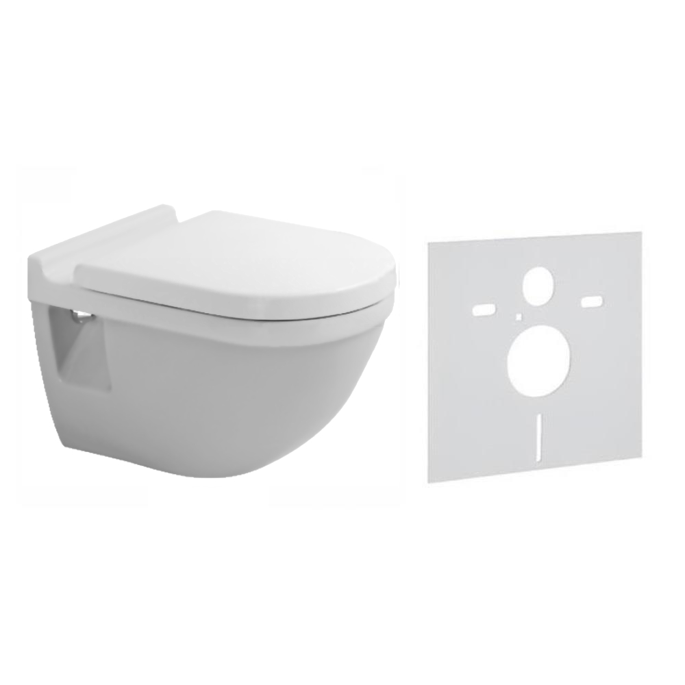 duravit starck 3 set tiefsp l wc mit geschlossenem sp lrand wc sitz w hlbar ebay. Black Bedroom Furniture Sets. Home Design Ideas