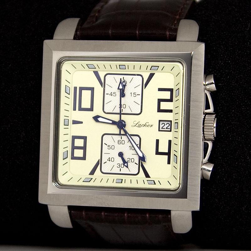 LACO Herrenuhr Quarz Chronograph Miyota OS11