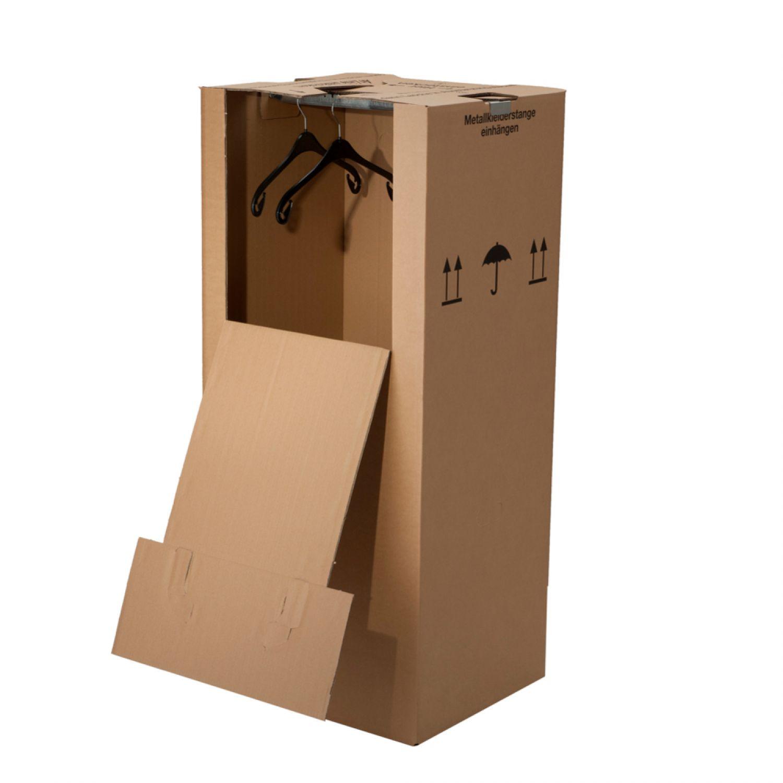 3 kleiderboxen gro kartons f r textilientransport im umzug ebay. Black Bedroom Furniture Sets. Home Design Ideas