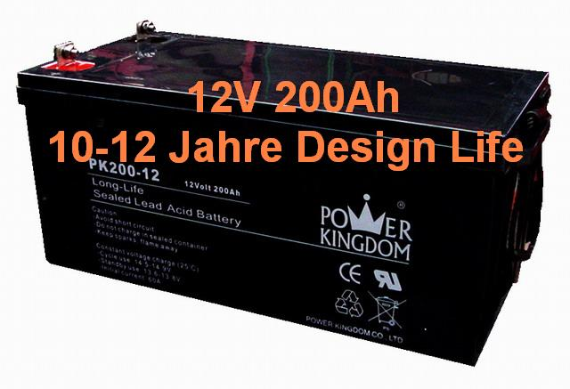agm batterie 12v 200ah akku wohnmobil keine gel batterie. Black Bedroom Furniture Sets. Home Design Ideas