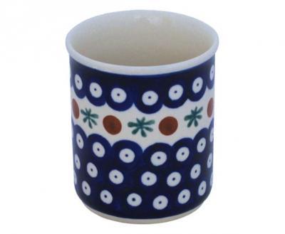 Original-Bunzlauer-Keramik-Becher-ohne-Henkel-Volumen-0-25-Liter-Dekor-41