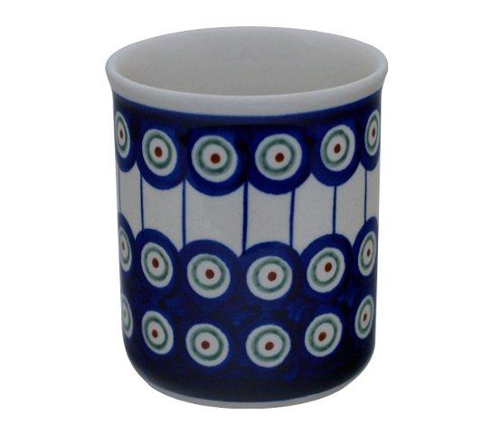 Original Bunzlauer Keramik Becher ohne Henkel, Volumen = 0.25 Liter Dekor 8