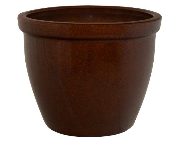 K&K Keramik Pflanzkübel / Blumentopf VenusII 40x32cm braun ...