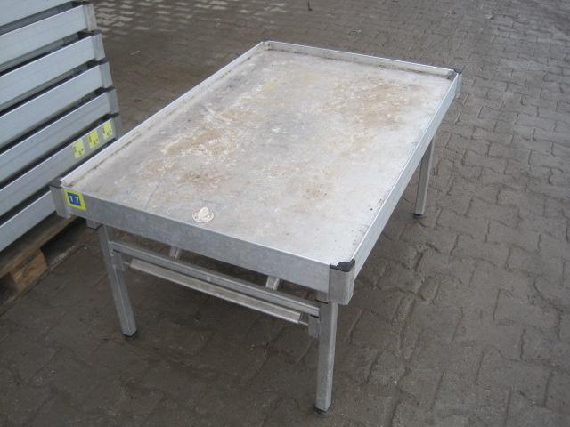 Alu pflanztisch verkaufstisch blumen ebbe flut tisch for Gebrauchte tische