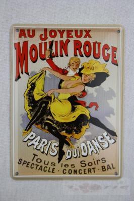 Details about Blechschild Küche Bar Wand Deko Blechkarte Moulin Rouge ...