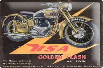 Blech Metall Garage Wand Deko Schild Bike BSA Motorrad 650 ...