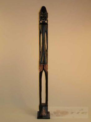 holzfigur afrika statue 100 cm afrikanische dekoration ebay. Black Bedroom Furniture Sets. Home Design Ideas