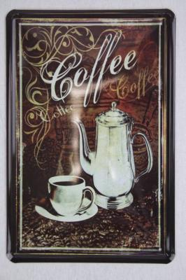 blechschild coffee k chendeko 20x30 cm metallschild poster. Black Bedroom Furniture Sets. Home Design Ideas