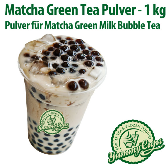 MATCHA GREEN TEA PULVER Bubble Tea (13,90 EUR/kg) Grüner Tee Bubble ...