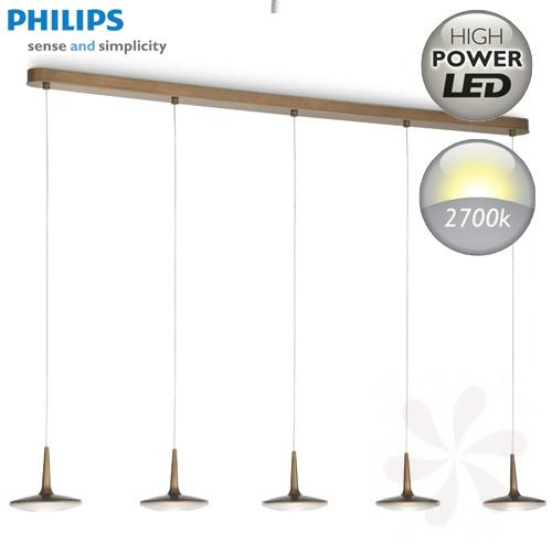roomstylers attilio led pendelleuchte bronze 5x7 5w von philips ebay. Black Bedroom Furniture Sets. Home Design Ideas