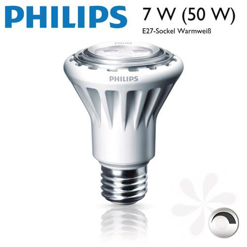 philips led spot par20 7w 50w dimmbar ebay. Black Bedroom Furniture Sets. Home Design Ideas