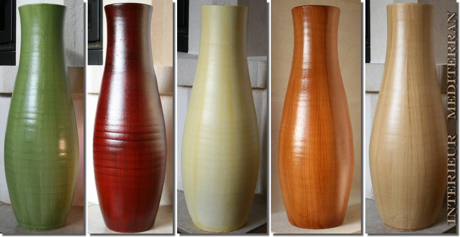 bodenvase vase keramik 50cm mediterran geschenkidee handarbeit portugal flur ebay. Black Bedroom Furniture Sets. Home Design Ideas