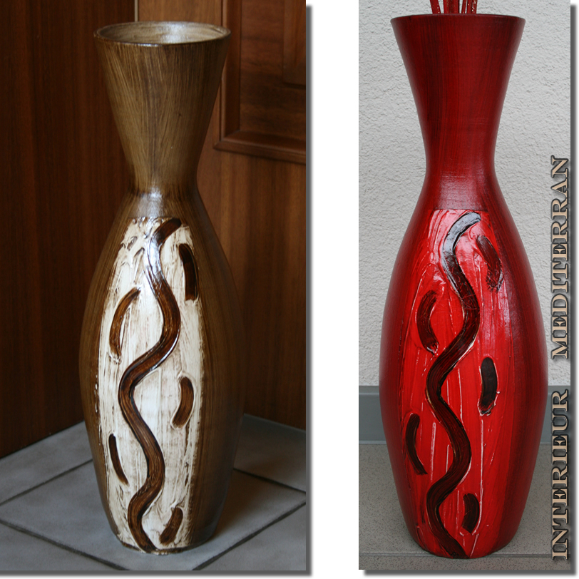 bodenvase vase blumenvase mediterran keramik portugal handarbeit dekovase neu ebay. Black Bedroom Furniture Sets. Home Design Ideas