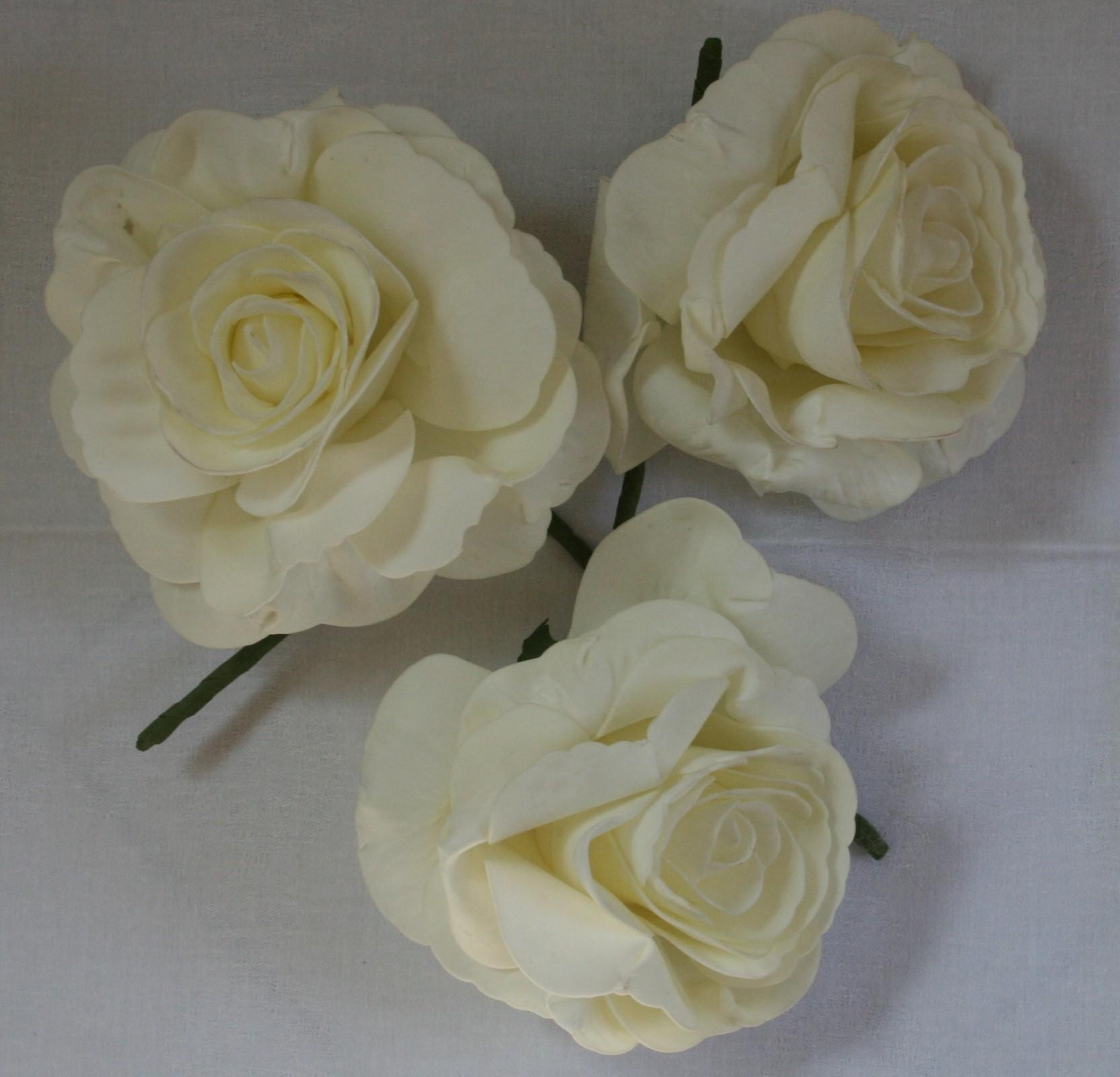 ... Kunstrose - Dekoblume - Rose - Hochzeitsdeko - Tischdeko, Kunststoff