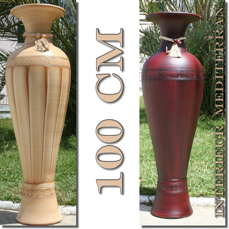 very large floor vase classic ii mediterranean ceramic 100cm vase from portugal ebay. Black Bedroom Furniture Sets. Home Design Ideas