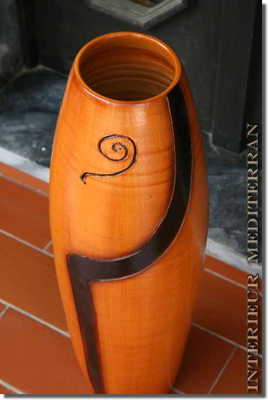 moderne bodenvase 60cm vase amphore mediterran neu ebay. Black Bedroom Furniture Sets. Home Design Ideas