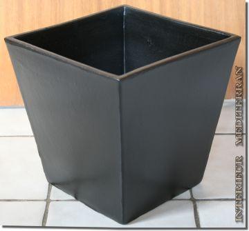 bertopf pflanzk bel blumentopf modern eckig 30 cm handarbeit keramik portugal ebay. Black Bedroom Furniture Sets. Home Design Ideas