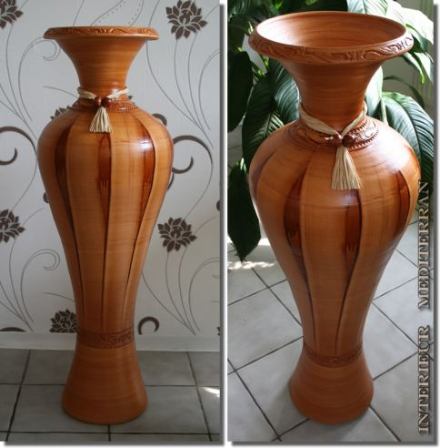 riesig amphore bodenvase vase keramik mediterran hangefertigt in portugal. Black Bedroom Furniture Sets. Home Design Ideas