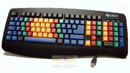 farbige usb tastatur learningkeybord 3d tippen lernen ebay. Black Bedroom Furniture Sets. Home Design Ideas