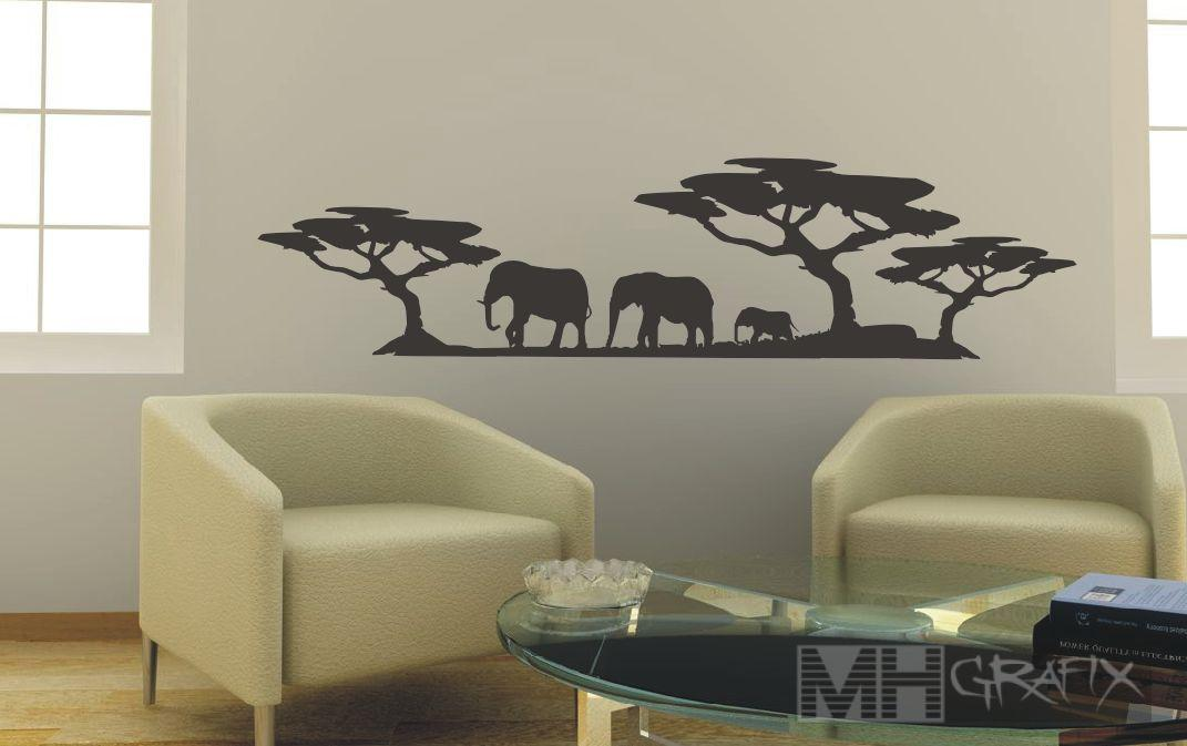 wandtattoo afrika wandsticker wohnzimmer wandtatoo ebay. Black Bedroom Furniture Sets. Home Design Ideas