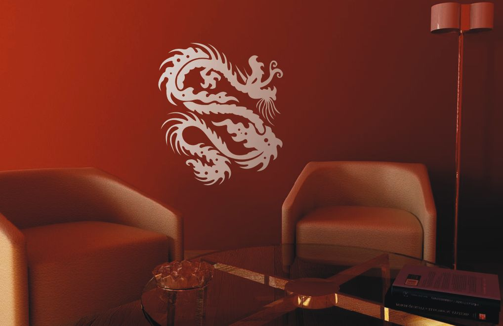 wandtattoo kleiner china drache wandtatoo asien. Black Bedroom Furniture Sets. Home Design Ideas
