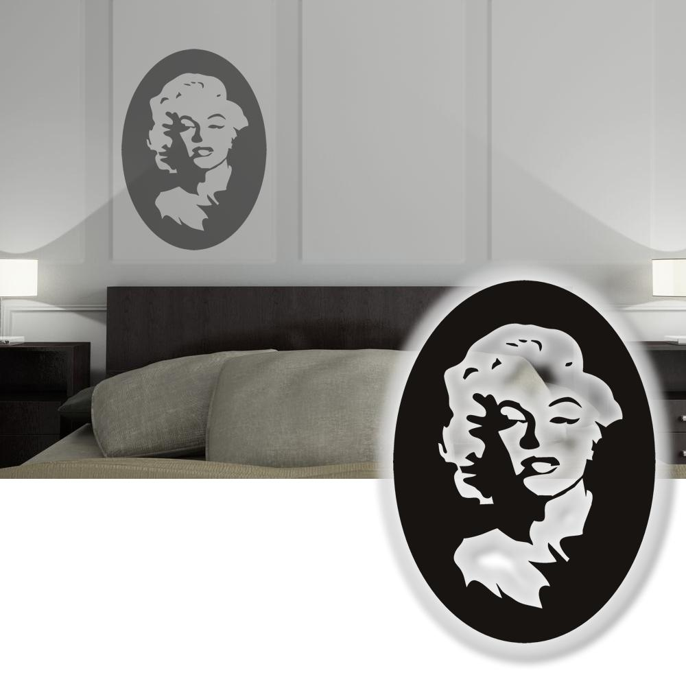 wandtattoo popart marilyn monroe wandsticker tattoos f r die wand 45cm ebay. Black Bedroom Furniture Sets. Home Design Ideas