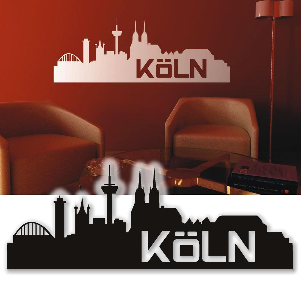 wandtattoo skyline k ln wandsticker tattoos f r die wand. Black Bedroom Furniture Sets. Home Design Ideas