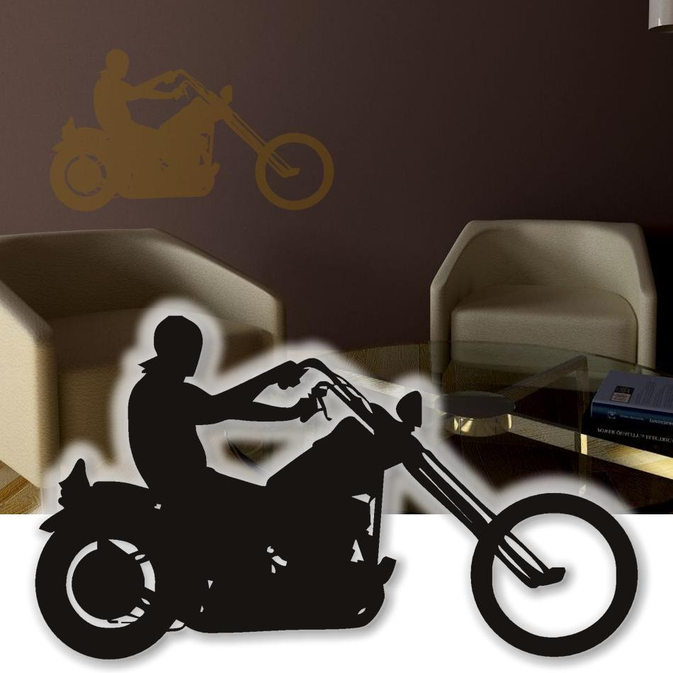 wandtattoo chopper motorrad wandsticker tattoos f r die. Black Bedroom Furniture Sets. Home Design Ideas