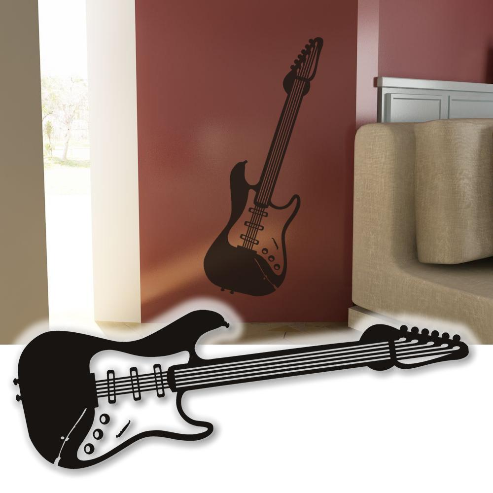 wandtattoo e gitarre xxl wandbild deko tattoo wand tapete ebay. Black Bedroom Furniture Sets. Home Design Ideas