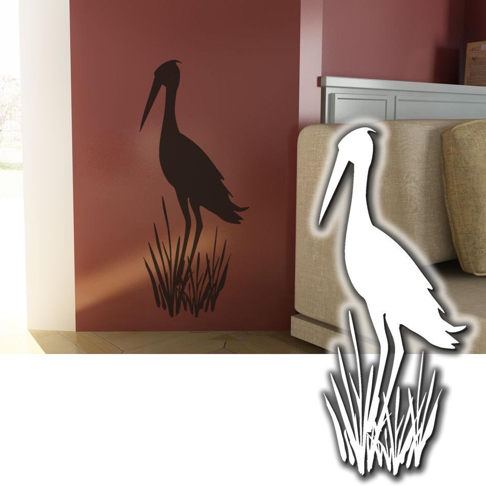 wandtattoo vogel schilf wandsticker tattoos f r die wand. Black Bedroom Furniture Sets. Home Design Ideas
