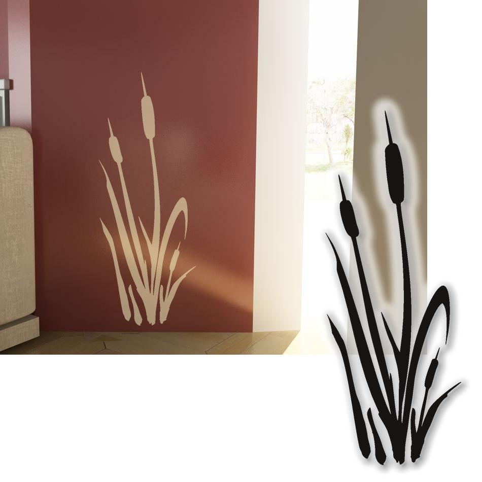 wandtattoo schilf einzeln wandsticker tattoos f r die wand 90cm ebay. Black Bedroom Furniture Sets. Home Design Ideas