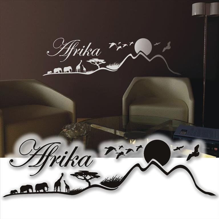 wandtattoo afrika savanne wandsticker tattoos f r die k che 75cm. Black Bedroom Furniture Sets. Home Design Ideas
