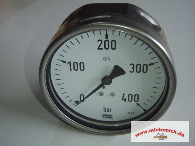 wika manometer 0 400 bar edelstahl d 100m mit 1 2 anschl druckmanometer ebay. Black Bedroom Furniture Sets. Home Design Ideas