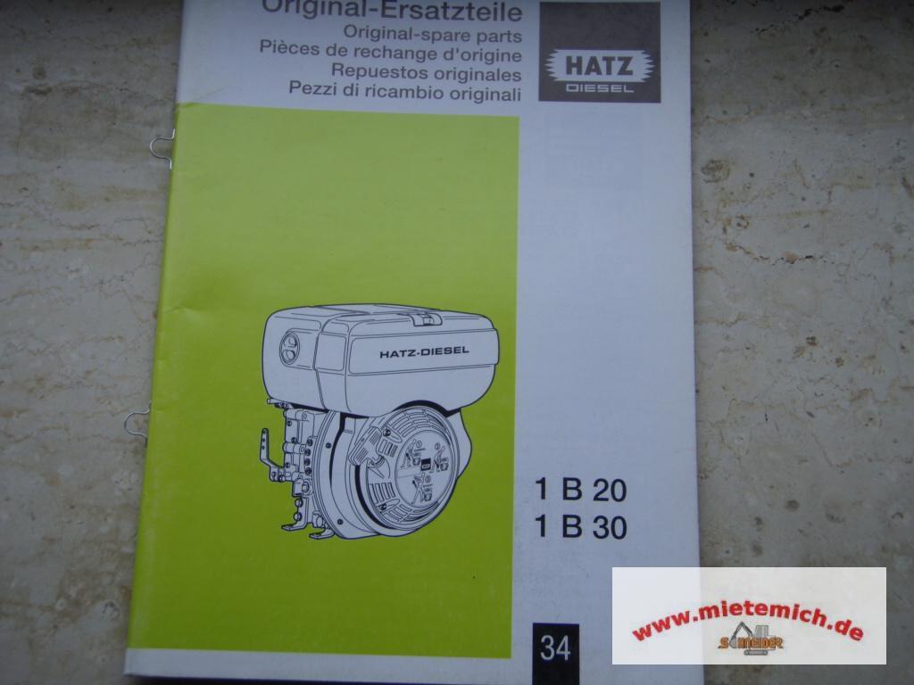 original ersatzteilliste f r hatz diesel 1b20 1b30 ebay. Black Bedroom Furniture Sets. Home Design Ideas