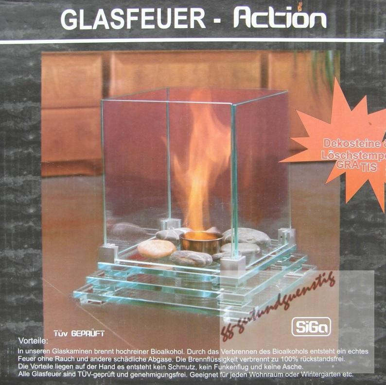 kamin glas tischkamin tischfeuer deko steinen bio ethanol ebay. Black Bedroom Furniture Sets. Home Design Ideas