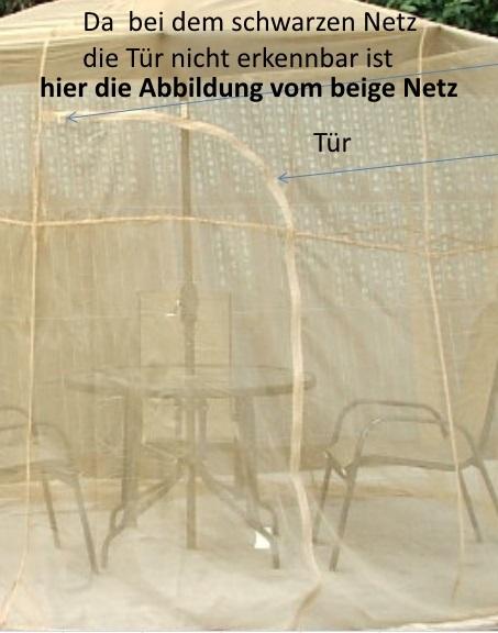 fliegennetz moskitonetz schwarz 3 5m sonnenschirm marktschirm angler ampelschirm ebay. Black Bedroom Furniture Sets. Home Design Ideas