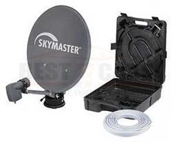 skymaster digitale camping sat anlage mit koffer single. Black Bedroom Furniture Sets. Home Design Ideas