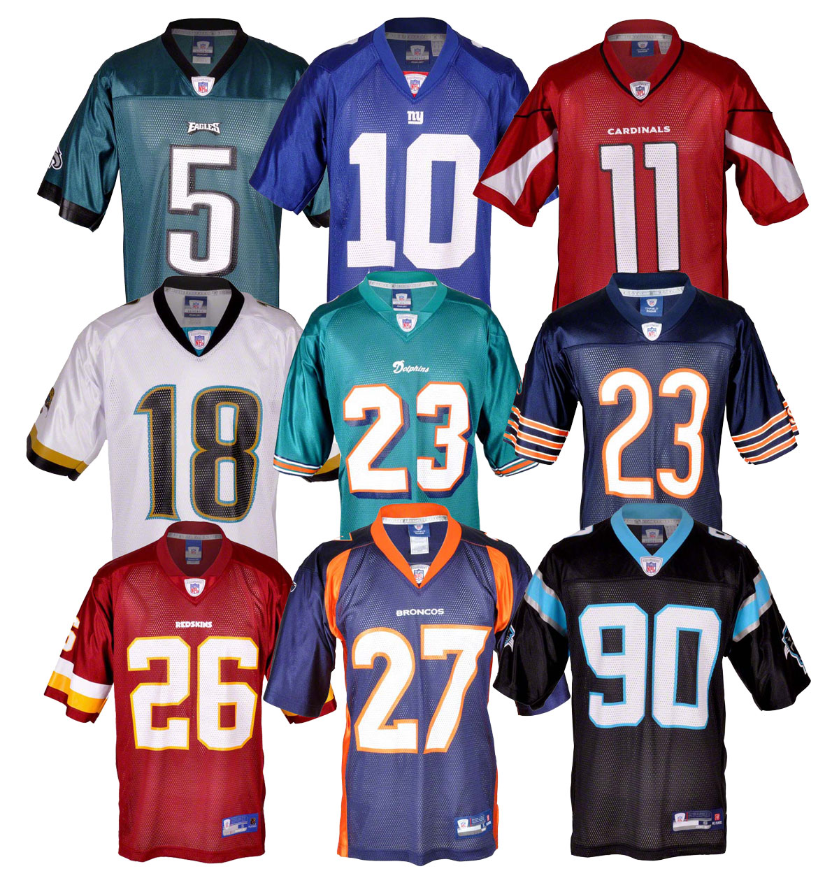 nfl football trikot ny giants dolphins broncos jaguars. Black Bedroom Furniture Sets. Home Design Ideas