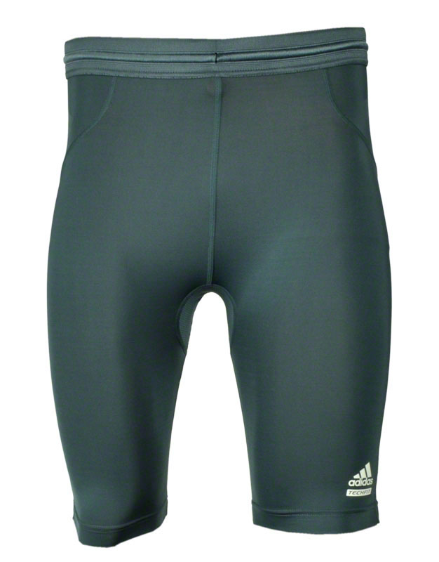 adidas techfit preparation laufhose tight short grau wei. Black Bedroom Furniture Sets. Home Design Ideas