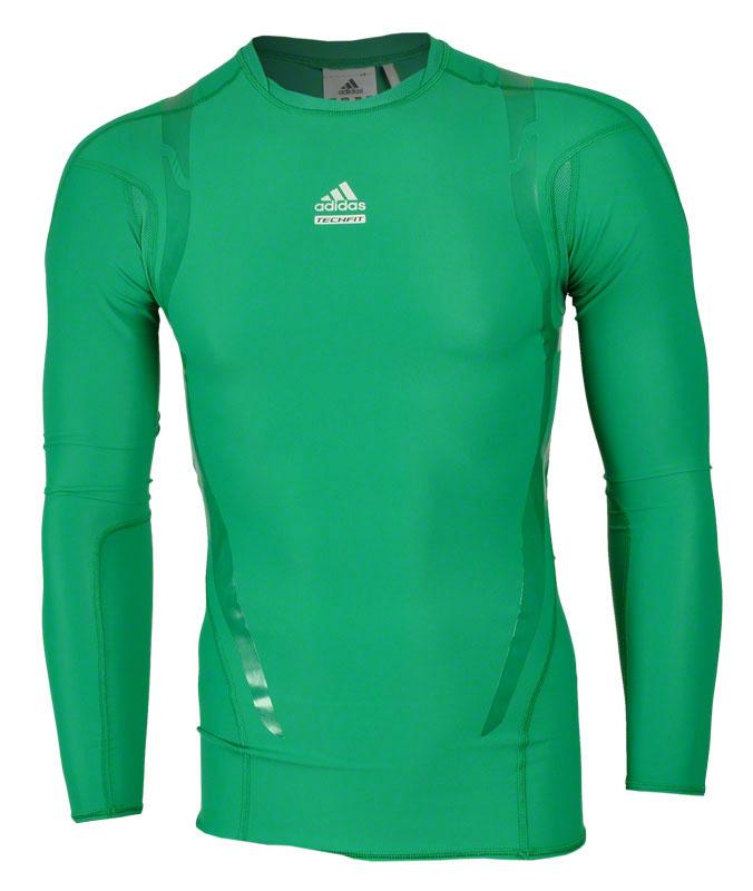 De Adidas Techfit Powerweb Herren Funktions Shirt Kurzarm Gruen Shi