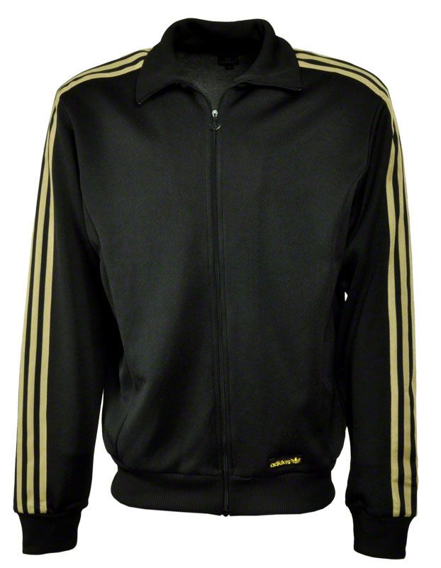 details zu adidas superstar tt jacke schwarz gold firebird beckenbauer. Black Bedroom Furniture Sets. Home Design Ideas