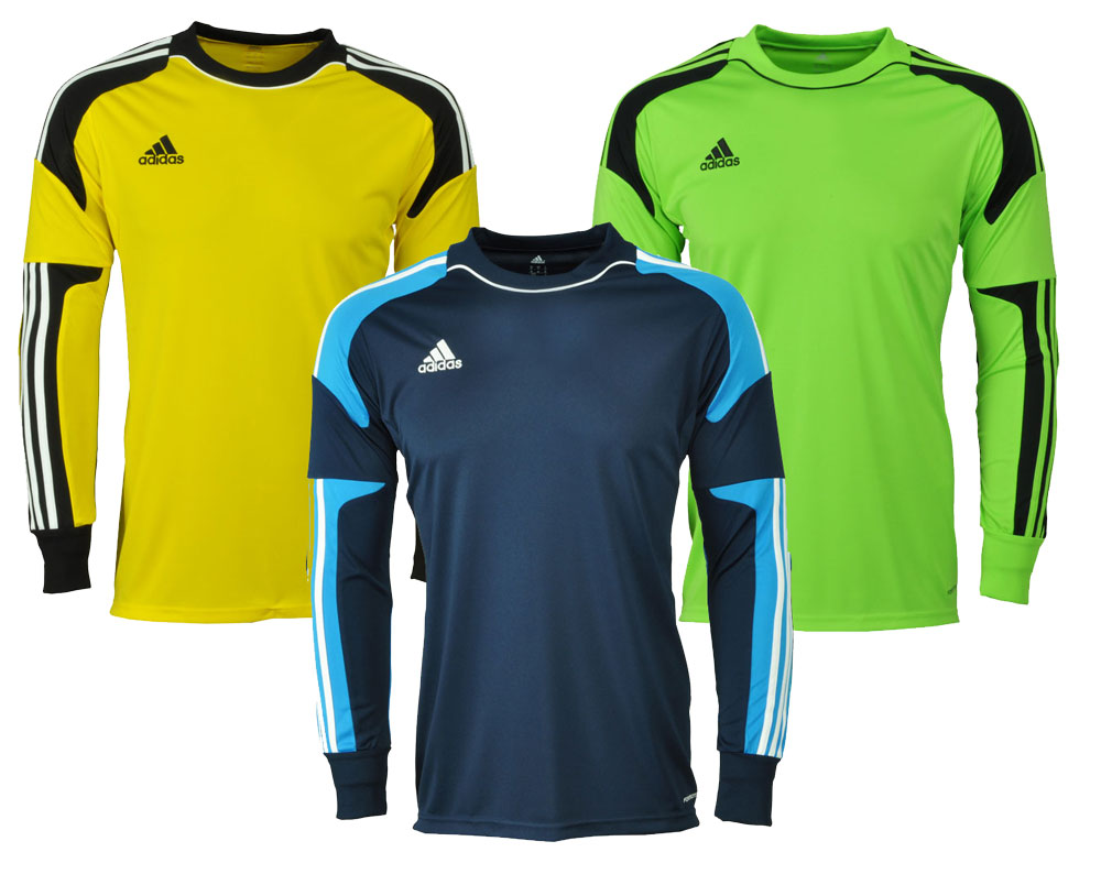 adidas revigo 13 goalkeeper jersey gk jsy goalkeeper shirt long sleeve blue green yellow ebay. Black Bedroom Furniture Sets. Home Design Ideas