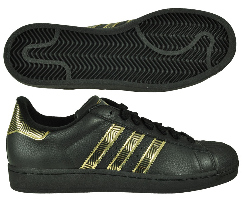 adidas originals superstar ii 2 retro sneaker schwarz gold. Black Bedroom Furniture Sets. Home Design Ideas