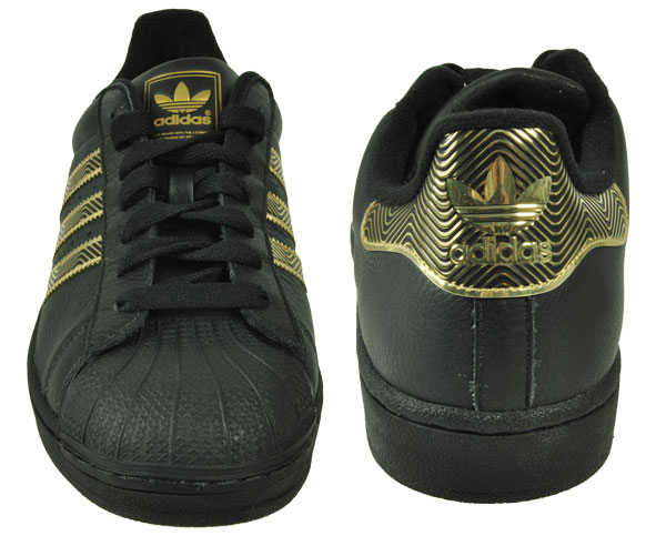 adidas originals superstar ii 2 retro sneaker schwarz gold klassiker sportschuhe. Black Bedroom Furniture Sets. Home Design Ideas