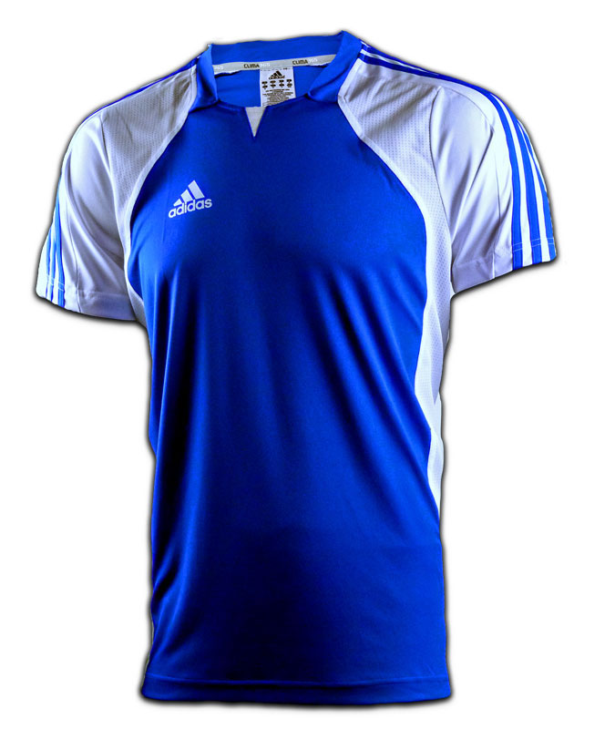 adidas team trikot t shirt blau wei xs s m l xl xxl climacool clima365 ebay. Black Bedroom Furniture Sets. Home Design Ideas