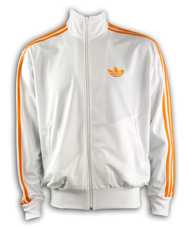 adidas firebird tt jacke wei orange sweat xs s m l xl. Black Bedroom Furniture Sets. Home Design Ideas