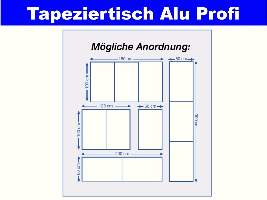 top tapeziertisch vielzwecktisch campingtisch alu tec tisch 60 x 100 cm ebay. Black Bedroom Furniture Sets. Home Design Ideas
